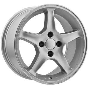 17 inch Ford Mustang Replica Wheels 4 Lug 4x108 Silver