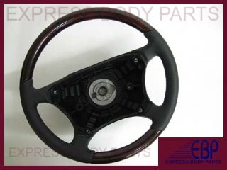 W463 G G500 2000 2001 2002 Mercedes Steering Wheel Black Leather Dark