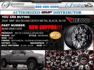 BMF Rehab 20x9 Death Metal Black Wheels 6x135 Ford F 150 Expedition