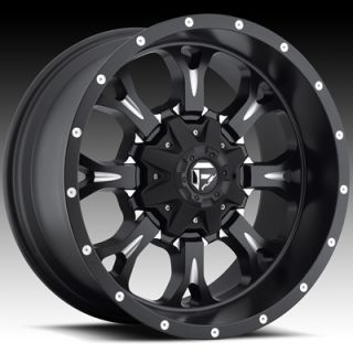 20x10 Black Fuel Krank Wheels 8x170 Rims