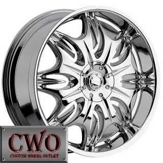 20 Chrome Incubus Jinx Wheels Rim 5x127 5x135 5 Lug Jeep Wrangler