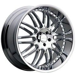 22 inch Menzari Z10 Chrome Wheels Rims 5x112 35 Mercedes CLS550 E350