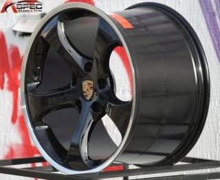 CARRERA STYLE BLACK 5X130 WHEEL FIT PORSCHE 991 993 996 997 SERIES RIM