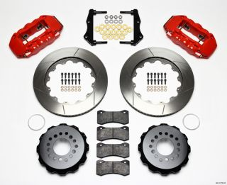 Wilwood Disc Brake Kit Rear 05 10 Charger Chrysler 300 14 Rotors Red