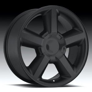 20 inch 20x8 5 Replica Wheels Rims Chevrolet Tahoe LTZ Black 6x5 5