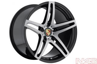 CAYENNE S TURBO GTS RODERICK RW5 MACHINED BLACK CONCAVE WHEELS RIMS