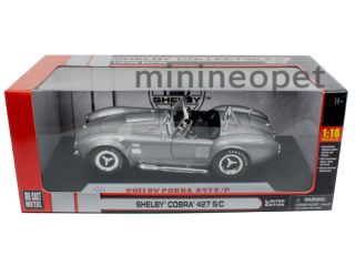 Collectibles 1965 Shelby Cobra 427 s C 1 18 Diecast Grey w Silver