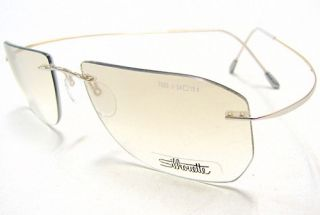 Silhouette Titan Minimal Art Special Edition 7695 6112 Silver Optical