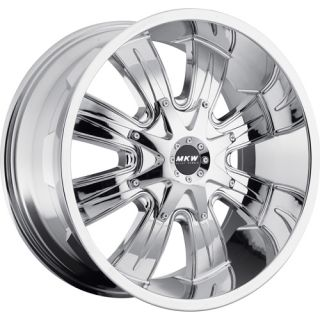 17x9 Chrome MKW Offroad M82 Wheels 5x4.5 5x5  10 Lifted FORD EXPLORER