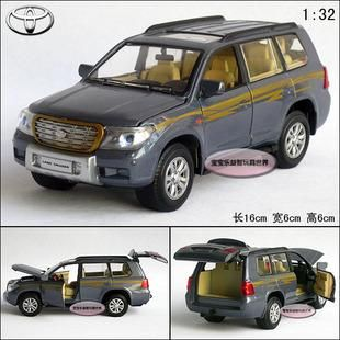 New 1 32 Toyota Land Cruiser Diecast Model Car with Sound Light Blue