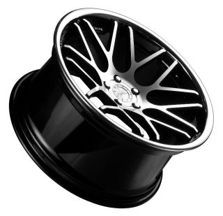 20X9.0/10 STAGGERED VERTINI MAGIC WHEELS 5X114.3MM ET+20 F +25 R BLACK