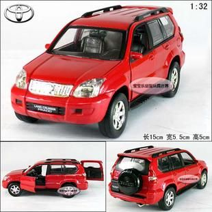 New 1 32 Toyota Prado SUV Alloy Diecast Model Car with Sound Light Red
