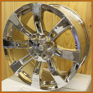 Chrome Escalade Wheels for GMC Sierra Denali Yukon 20 in Rims