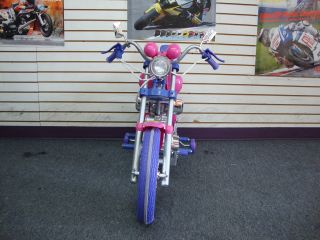 Kids Harley Style Power Ride on Motorcycle 6v Wheels Pink Harley Girls