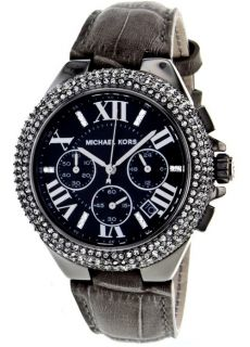 Michael Kors Ladies  Camille  Black Glitz Chronograph Watch MK5666