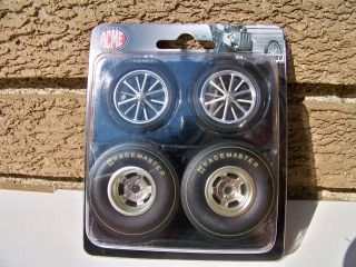 18 Set of 4 Acme Pure Hell Altered Drag Racing Wheel Tire Set SKU