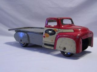 Vintage Wyandotte Stake Flatbed Truck Farm Fresh Steel Tin Pressed