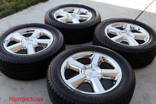 Factory Chevy Tahoe LTZ Silverado 20 Chrome Wheels Tires GMC