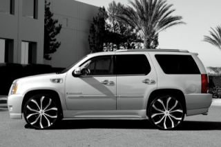28 Wheels and Tires Escalade Chevy Ford QX56 H3 Silverado Yukon