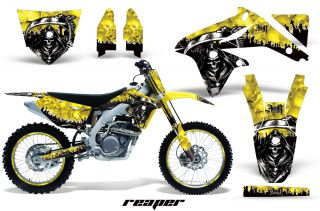 AMR Racing Dirt Bike MX Number Plate Sticker Kit Suzuki RMZ 450 08 12