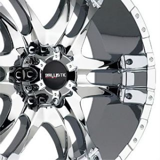 BALLISTIC OFF ROAD WIZARD CHROME AVALANCHE TAHOE YUKON GMC WHEELS RIMS