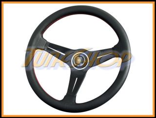 Italy Nardi Rally Deep Corn 350 mm Steering Wheel Black Perforated