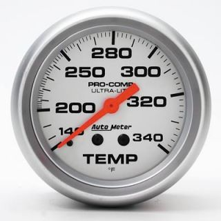 Autometer Ultra Lite Mechanical Temperature Gauge 2 5 8 Dia Silver