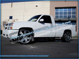 24 Escalade Gunmetal Machined Face Wheels and tires package GMC Chev