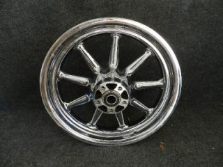 00 07 Harley Touring Conastoga Front Wheel Rim 9 Spoke Chrome
