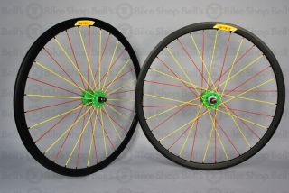Velocity Deep V Track Wheels Black Red Yellow Green