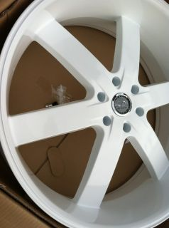 22 Gloss White Rims Tires Avalanche Yukon Escalade Armada GMC