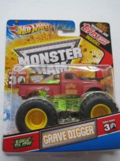 Hot Wheels Monster Jam Truck Topps Trading Card Edge Glow Grave Digger