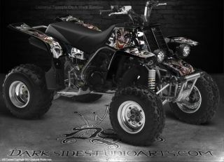Yamaha Banshee ATV Graphics The Jesters Grin White Model