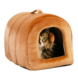 Whisker City™ Cashew Cat Hut   Enclosed   Beds