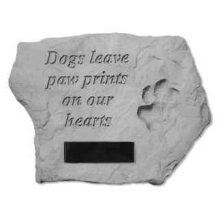 Dogs Leave Paw PrintsPersonalized Memorial Stone   Pet Memorials   Dog