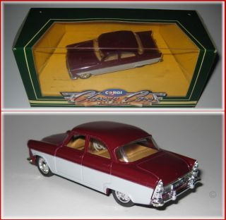 FORD ZODIAC MK2 1950s SCALE 143 DIECAST MODEL CAR   CORGI CLASSIC