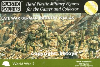15mm Figuren Plastic Soldier WWII Late German Infantry