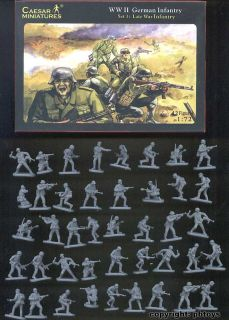 72 Figuren Caesar 002 WWII Late War German Infantry Landser