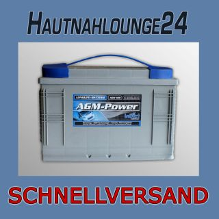 Intact AGM Power Batterie 12V 100Ah Rangierhilfe Boot Wohnmobil