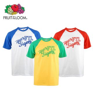 FRUIT OF THE LOOM Herren Baseball T Shirt Shirt Kurzarm
