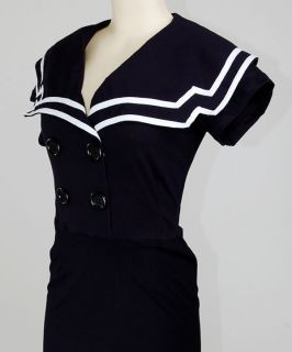 Gossip Girl Sailor Nautical Rockabilly Dress Kleid M