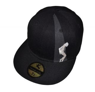 NEW Michael Jackson MJ BAD Fitted Baseball Cap 7 3/8