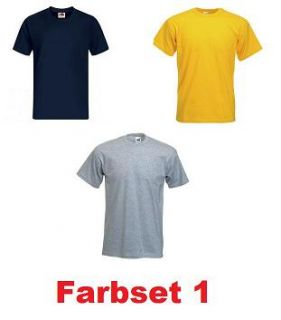 Original FRUIT OF THE LOOM T shirt Gr. S M L XL XXL 2XL Herren