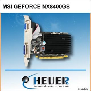 MSI NX8400 GS   NVIDIA GeForce   512MB PCI E DVI PASSIV