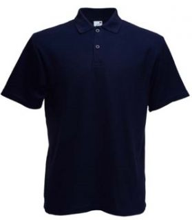 Fruit of the Loom Poloshirt Gr. XXL dunkelblau NEU