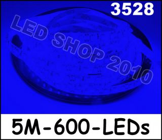 5M Blue 3528 SMD LED Waterproof Flexible Strip 12V 600 LEDs