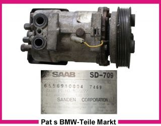 Kompressor Sanden Saab 9000 Turbo 4070777 SD 709 SD709 7469