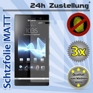 3x Sony Xperia U Schutzfolie Matt Anti Glare Display Folie Handy