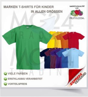 Fruit of the Loom Kinder / Kids T Shirt Gr. 104   164 Top Neu #SALE
