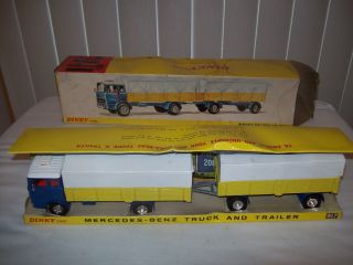 Toys Mercedes Benz Truck and Trailer #917 w/Original Box Opening Doors